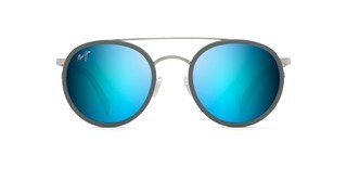 Maui Jim Even Keel B534-17A Blue HawaiiBrushed Silver w/ Powder Blue