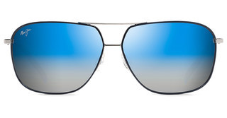 Maui Jim Kami DBS778-06A Dual Mirror (Blue to Silver)Silver with Navy Blue (*frames are Rx'able, Dual Mirror lenses are not)