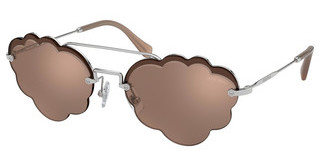 Miu Miu MU 57US 1BC176 LIGHT BROWN MIRROR FLASH GOLDSILVER