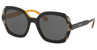 Prada PR 16US CCO1A1 GREYTOP BLACK YELLOW/GREY HAVANA