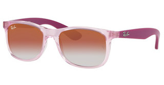 Ray-Ban Junior RJ9062S 7052V0 RED MIRROR REDTRASPARENT PINK