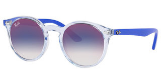 Ray-Ban Junior RJ9064S 7051X0 BLUE MIRROR REDTRASPARENT LIGHT BLUE