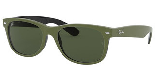 Ray-Ban RB2132 646531 GREENTOP RUBBER MILITARY GREEN ON B