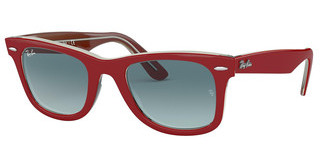 Ray-Ban RB2140 12963M BLUE GRADIENTRED ON TRASPARENT GREY