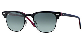 Ray-Ban RB3016 110371 TOP BLACK ON PURPLE/BLAC CRYSTAL GREY GRADIENT