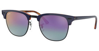 Ray-Ban RB3016 1278T6 BLUE MIRROR GRADIENT FUCSIATOP BLUE ON HAVANA RED