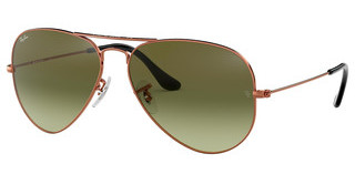 Ray-Ban RB3025 9002A6 GREEN GRADIENT BROWNSHINY MEDIUM BRONZE