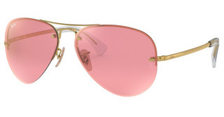 Ray-Ban RB3449 001/E4 PINK FLASH COPPERGOLD