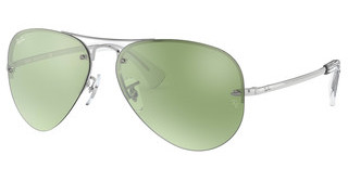 Ray-Ban RB3449 904330 GREEN FLASH SILVERSILVER