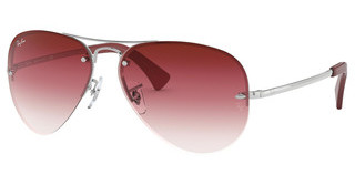 Ray-Ban RB3449 91280T CLEAR GRAD BORDEAUXSILVER
