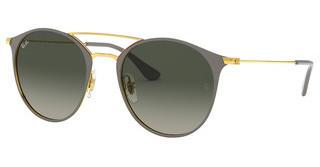 Ray-Ban RB3546 917471 GREY GRADIENT DARK GREYGOLD TOP ON GREY