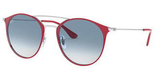 Ray-Ban RB3546 91763F CLEAR GRADIENT BLUESILVER ON TOP BORDEAUX
