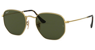 Ray-Ban RB3548N 001/58 GREEN POLARGOLD