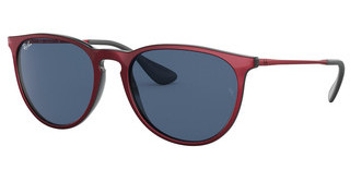 Ray-Ban RB4171 647280 DARK BLUETOP METALLIC RED ON BLACK