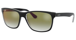 Ray-Ban RB4181 6039W0 CLEAR GRADIENT GREEN MIRROR RETOP BLACK ON TRANSPARENT