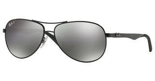 Ray-Ban RB8313 002/K7 GREY MIRROR BLACK POLARSHINY BLACK