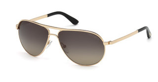 Tom Ford FT0144 28D grau polarisierendrosé-gold glanz
