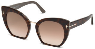 Tom Ford FT0553 56G braun verspiegelthavanna