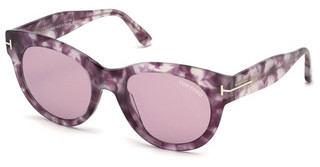 Tom Ford FT0741 55Y violetthavanna bunt