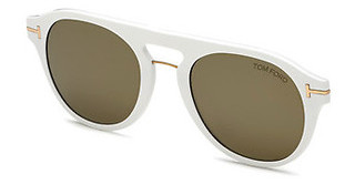 Tom Ford FT5533-B-CL 21G braun verspiegeltweiss