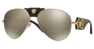 Versace VE2150Q 10025A LIGHT BROWN MIRROR DARK GOLDGOLD